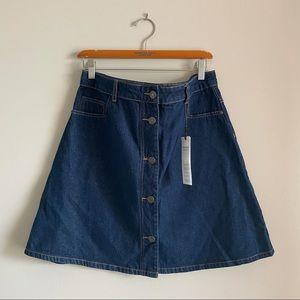 Noisy May Full Button Down Denim Skirt - NWT
